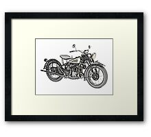 1941 Indian Scout 741 Motorcycle Framed Print