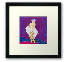 What if Marilyn was Diagnosed? (Even the famous have it) Framed Print