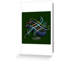 Scott Tartan Twist Greeting Card