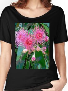 Pink flowering gum blossom Women's Relaxed Fit T-Shirt