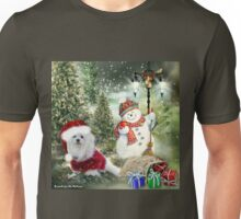 Snowdrop the Maltese - Counting the Days ! Unisex T-Shirt