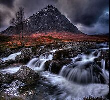 Buachaille Etive Mor, Rannoch Moor , Scotland by David Mould