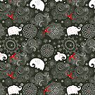 pattern of elephants and clouds by Tanor