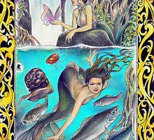 tropical fantasia - mermaid's outing by John R.P. Nyaid