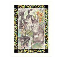 tropical fantasia - mermaid serenade Art Print