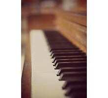 Piano keys Photographic Print