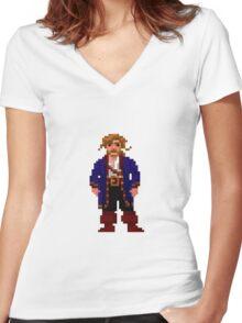 Guybrush Threepwood Women's Fitted V-Neck T-Shirt