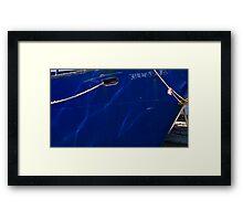 Boat's eye Framed Print