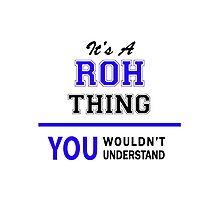 It's a ROH thing, you wouldn't understand !! Photographic Print
