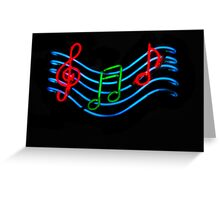 Musical Neon Greeting Card