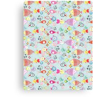 pattern of colorful fish Canvas Print