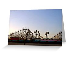 Big Dipper, Santa Cruz Beach Boardwalk, California Greeting Card