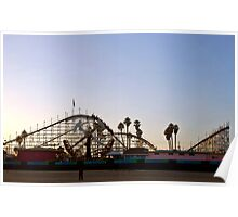 Big Dipper, Santa Cruz Beach Boardwalk, California Poster