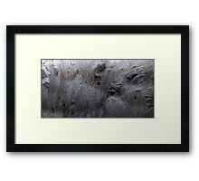 HDR Composite - Frost Patterns and Whorls 2 Framed Print