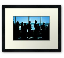 Airport Travelers Framed Print