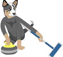 Australian Cattle Dog Olympic Curling by pounddesigns