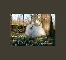 Snowdrop the Maltese -  in the Snowdrop Woods Unisex T-Shirt