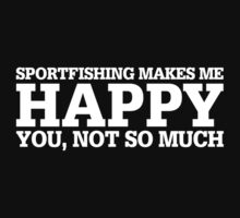 Haappy Sportfishing T-shirt by musthavetshirts