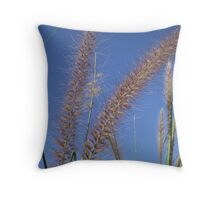 Blue Grass Throw Pillow