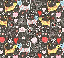 pattern of cat lovers by Tanor