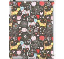 pattern of cat lovers iPad Case/Skin