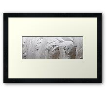 HDR Composite - Frost Patterns and Whorls 3 Framed Print