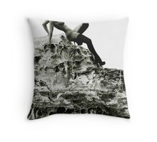 Blindfold & Boots Throw Pillow