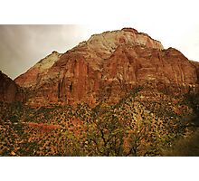 Storm in Zion Photographic Print