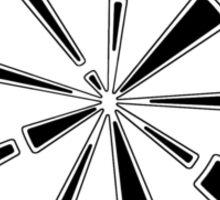 Mandala 6 Back In Black Sticker