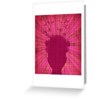 Surreal Head with Butterflies Greeting Card