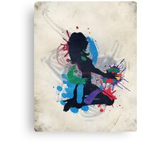 Grunge illustration of a music DJ Canvas Print