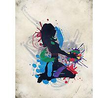 Grunge illustration of a music DJ Photographic Print