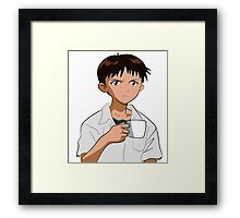 Shinji Ikari Framed Print