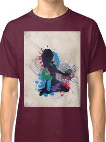 Grunge illustration of a music DJ Classic T-Shirt