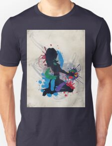 Grunge illustration of a music DJ Unisex T-Shirt