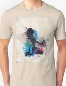 Grunge illustration of a music DJ Unisex T-Shirt