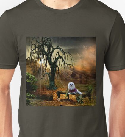Snowdrop the Maltese at the Lake Unisex T-Shirt