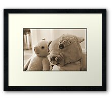 Ted, Bedraggled Framed Print
