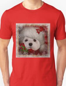 Snowdrop the Maltese on Christmas Eve T-Shirt