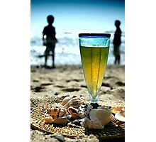 Beer at the Beach Photographic Print