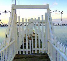 Private Dock Gate with Fleur-de-Lys Accents by confections