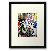UN SANTO Y UN PÁJARO ( a saint and a bird) Framed Print