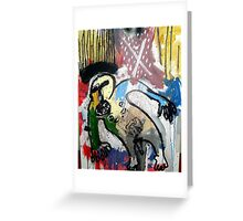 UN SANTO Y UN PÁJARO ( a saint and a bird) Greeting Card