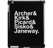 Star trek captains iPad Case/Skin