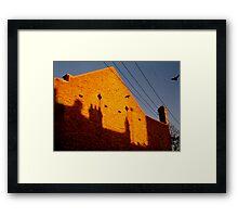 bricks n' bird Framed Print