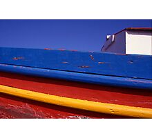Greece. Colourful Fishing Boat Photographic Print