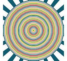Rainbow circles Photographic Print