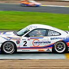 Tim Harvey racing his Porsche Carrera to victory by John Stewart