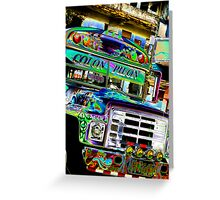 bus to Mexico Greeting Card