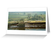 Reeth Swingbridge, Swaledale, 2001 Greeting Card
